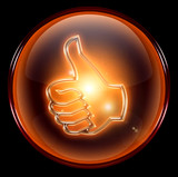 thumb up icon, approval Hand Gesture poster