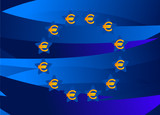 Europe Flag From Europe Money Signs poster