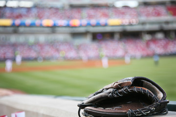 Baseball glove  background