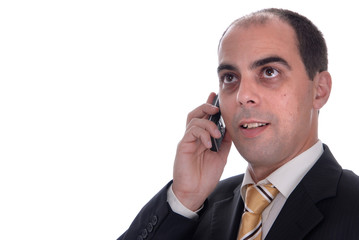 young business man speaking on a mobile phone
