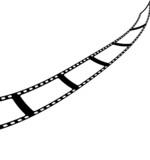 film strip roll vector poster
