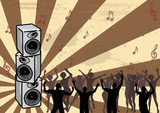 Boom Box - Vector dance graphic poster
