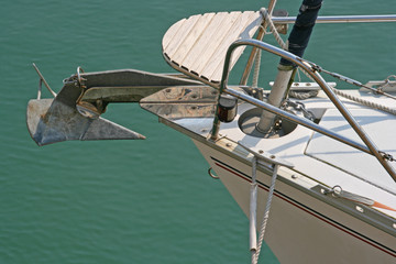 Bow of sail boat