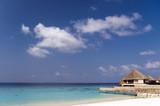 Water villas, Medhupparu island, Maldives poster