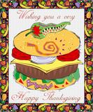 Grusskarte Thanksgiving poster