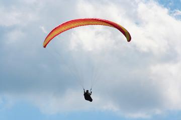 Single glider against big cloud