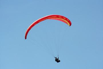 Sinle glider against azure sky