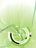 futuristic design green poster