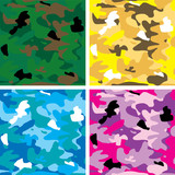 camouflage background multi poster