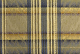 Blue and Gold Plaid Abstract Background  poster