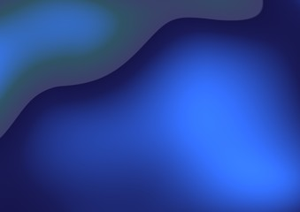 Abstract curves - blue fantasy background