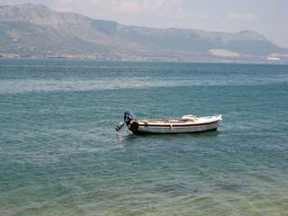 boat waiting for fisherman