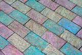Colored brick walkway 2 poster