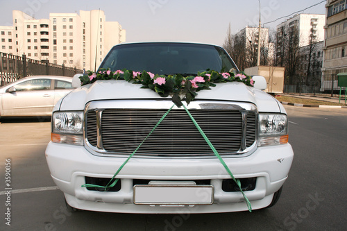 transportation wedding limousine white luxury