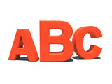 ABC letters poster