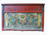 old chinese cabinet with dragon painting poster