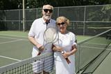An active senior couple  poster