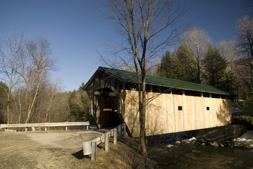 'Kissing Bridge' Covered Bridge near Stowe in Vermont