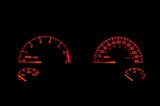 An instrument panel in the dashboard of an automobile. poster
