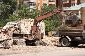 demolition of dilapidated shelters, scavenging