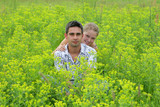 Couple in green fields 1