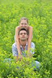 Couple in green fields 2