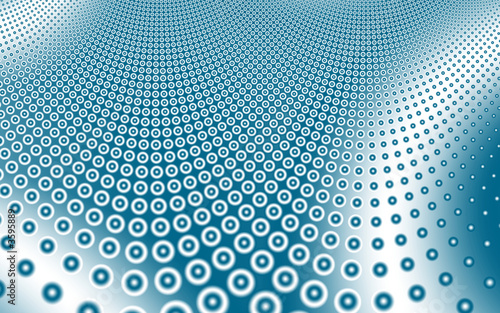 canvas print picture Blue circles pattern background,