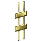 3D Golden Sharp Symbol poster