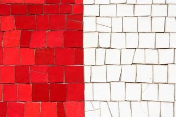 Mosaique bicolore