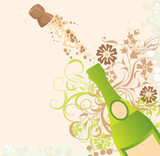 Holiday sparks of a champagne poster