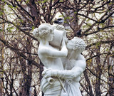 statue paris montparnasse france drinking thirsty lovers poster