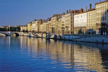 river rhone lyon france europe