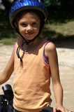 jeune cycliste  poster