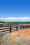 Wooden Cattle Corrals, Blue Summer Sky, Sierra Nevada poster