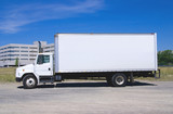White Delivery Truck poster