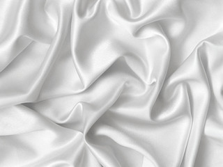 Elegant folds of white silk.