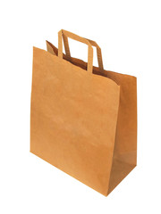 Paperbag, isolated on the white background.