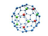 Logotype colour molecule poster