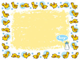 yellow duckies frame for BOY