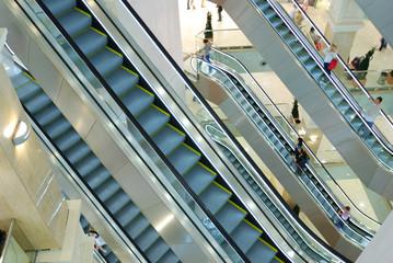 Escalators at the mall