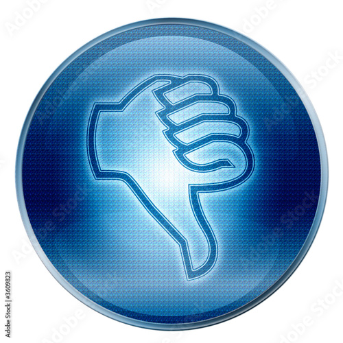 thumb down icon. ( With Clipping Path )