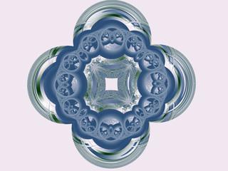 Fiore blu metallizzato