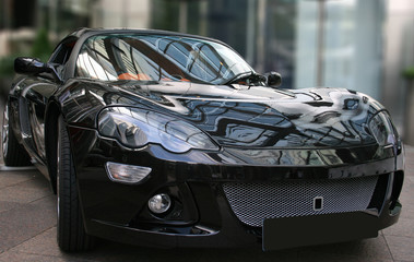 Black sportscar
