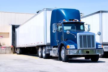 Blue Truck Loading
