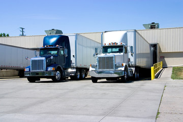 Trucks At Dock