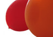 orange and red balloons