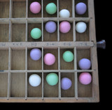 pastel gumballs in a type case 2