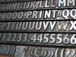 caractères d'imprimerie