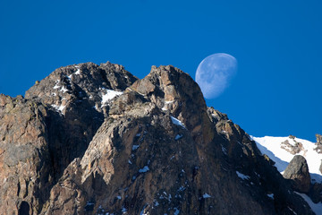 Moonset over Rocky Mountain National Park