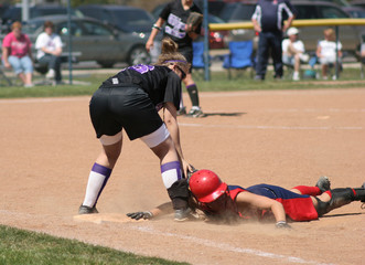 Softball pickoff